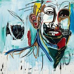 $enCountryForm.capitalKeyWord NZ - Jean Michel Basquiat High Quality Handpainted & HD Printed Abstract Graffiti Art oil painting,Home Decor Wall Art On Canvas Multi Sizes g52
