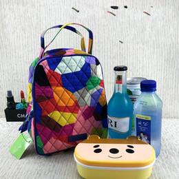 Picnic handbag online shopping - Cloth Lunch Bag Tote Handbag Insulated Coolers Diamond Printing Lattice Sack Office Worker Student Picnic Articles Hot Sale jy UU