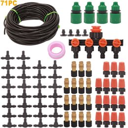 garden drip irrigation kits UK - 99FT 30m DIY Micro Drip Irrigation Watering Kits System Automatic, Plant Self Watering Garden Hose Kits T200530
