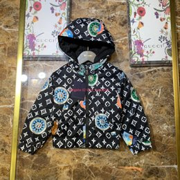 line jacket designs Australia - Boys jacket kids designer clothes woven fabric jacket lined with cotton design cotton covered pattern design jacket news