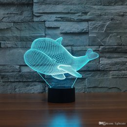 christmas gifts little boys Australia - little whale 3D Illusion Night Light Touch 7 Color Change Home Decor Baby Girl Boy LED Lamp Kids Gift Christmas Xmas Gifts
