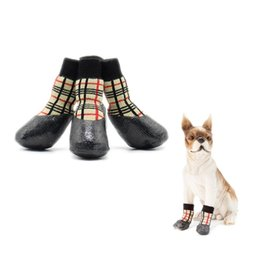 Dog shoes sizes online shopping - New Autumn Winter Outdoor Waterproof Dog Socks Anti Skid Small and Large Pet Shoes Dog Cotton Shoes Pets Supplies Size