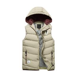 8b9cb8a6b511e More Men s Autumn Winter Warm Hooded Loose Big Yards Vest Leather Solid Winter  Vest Plus Size Cargo Vest