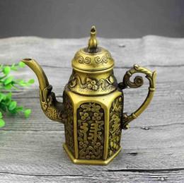 $enCountryForm.capitalKeyWord NZ - Antique brass antique copper Fu Lu Shou jug kettle teapot living room desktop tea set supplies ornaments