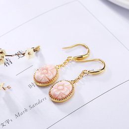 natural semi precious stones 2019 - 2018 New Earings Fashion Jewelry 100% 925 Sterling Earrings For Women Vintage Natural Semi-precious Stones Retro Thai Je