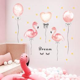 $enCountryForm.capitalKeyWord Australia - Pink Flamingo Unicorn Wall Stickers for Kids Rooms Girls Rooms Bedroom Decor Cartoon Animal Balloon Stickers for Wall Room Decor