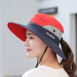 Hot Hats For Men Australia - Hot Summer Mesh Wide Brim Sun Hats for Women Breathable Sunhat Outdoor UV Protection Top Men Bucket Hats Sport Fishing hats