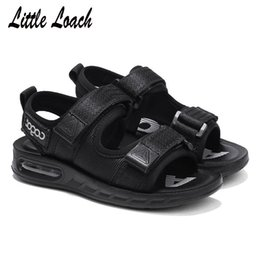 big toe sandals Canada - Boys Open Toe Beach Sandals New Arrival Size 26-37 Toddler Or Big Kids Fabric Breathable Mesh Shoes Soft Footwear Kids Sandals Y19051602