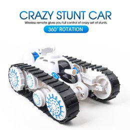 Function Products Australia - New product Remote control tank 360° superimposed deformation multi-function with LED lights and music car boy children gift model toy