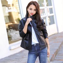 $enCountryForm.capitalKeyWord Australia - 2018 Autumn Women Fashion PU Leather Jackets Korean Black Motorcycle Coat Short Faux Leather Casual Loose Zipper Female Coat