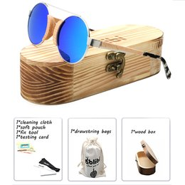 sunglasses sizes Australia - Ladies' Beeach Wood Cat eye Sunglasses Women Polarized Small Size Funny Unique Bamboo Wooden Shade for Women in Vintage Wood Box