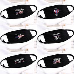 Vente en gros 5 Styles Donald Trump Masque bouche Masque drôle anti-poussière Coton USA Homme Femme Mode unisexe hiver chaud masque noir lavable