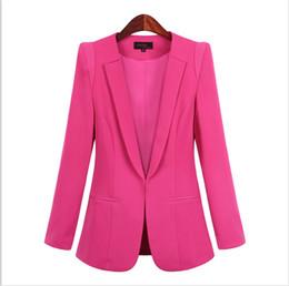 Koreans females suit online shopping - Korean version of the small suit jacket female autumn spring new female Slim long sleeve OL office pure color large size suit