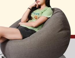 60 * 75 CM barato EMS sofá frete grátis sofá sofá sala de estar único sofá saco de feijão mobiliário sofá de tecido em Promoção
