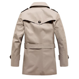 Wholesale korean fashion trench coat resale online - Men s Trench Coat men s fashion Slim thin section single breasted Trench Coat Korean men in the long section Trenc