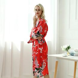dee7e66a4 Silk pajamas female fashion Amazon peacock long home service ins super-hot  bathrobe