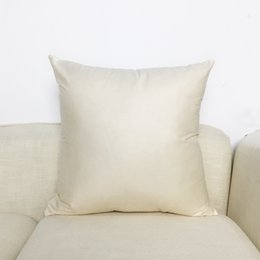 Plain Cotton Cushions Australia - Cotton Solid Color Soft Plain Cushion Cover Home Decoration Sofa Bed Decor Decorative Blank Natural Pillowcase