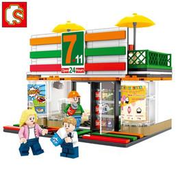 Block Stores Australia - SEMBO City Street Mini Food Shopping Mall Coffee Store Friends Architecture Retail Shop View Model Set Building Blocks Toy
