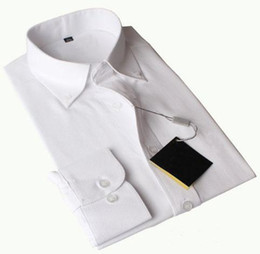 Dress Shirts For Men Australia - Limited USA Fashion Men Polo Dress Shirts Small Pony Embroidery Cotton Long Sleeve Solid Formal Shirt For Business Suits White Pink