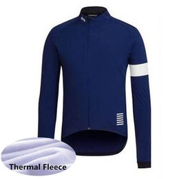 China 2019 RAPHA Winter Fleece Classic cycling jersey for men Road bike cycling wear Maillot Ciclismo long sleeve Racing bicycle shirts 60604 cheap black white road bike jersey suppliers