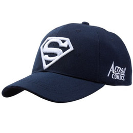 online store 9335b 740a9 2019 Bule White New Letter Superman Cap Casual Outdoor Baseball Caps For  Men Hats Women Snapback Caps For Adult Sun Hat Gorras wholesale