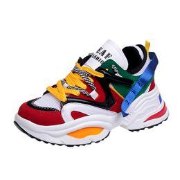 $enCountryForm.capitalKeyWord UK - Fashion 2019 Harajuku Women Casual Shoes Lace-Up Leather Dad Chunky Sneakers Flat Thick Sole Tenis Wedge White Basket Walking