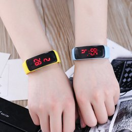 kids digital sports watch Australia - JOYROX Fashion LED Display Digital Sports Watch Hot Silicone Strap Children Wristwatch Girls Boys Kids Candy Color