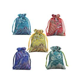 $enCountryForm.capitalKeyWord UK - 10x14cm Silk Brocade Drawstring Jewelry Organizer Pouches Satin Christmas Wedding Gifts Bags Packaging Sack Bag Pouch