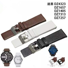 24mm leather watch straps Canada - 2020 new mens watch DZ strap for DZ73 series watches 24mm 26mm 28mm leather strap designer watch Relógioinvicta bracelet diesels wristwatch