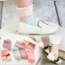 Beautiful Girls Socks Australia - Baby Girls Socks Short With Bows Baby Princess Lady Socks For Girl Sweet Cute Baby Socks Long Tube Kids Colored Beautiful Sock