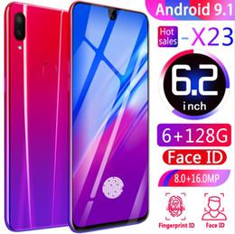 ارتفاع كانليتي Goophone X23 الهاتف المحمول 6GB RAM 128GB ROM Android 6.2