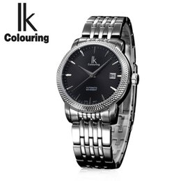 Luxury Ik Brand Watch Australia - IK colouring Men's Luxury Top Brand Men Watches Waterproof High Level Stainless Steel Business Automatic Mechanical Wrist watch