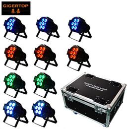 Stage lighting truSSeS online shopping - 10IN1 Flightcase Pack Aluminum x12W RGBW Color Stage Led Par Light Fan Cooling Degree Beam Stage Truss Colorful Par Light TIPTOP Light