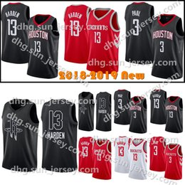 2018 New Men s Houston James 13 Harden Rockets Basketball Jersey Carmelo 7  Anthony Chris 3 Paul Red Black Stitched Jerseys aecc08a64
