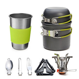 $enCountryForm.capitalKeyWord Australia - Ultra Light Stainless Steel Dishware Anti Wear Portable Camp Kitchen 2 Person Fold Outdoor Cooker Kit Durable Factory Direct 69tpI1