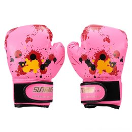 Fighting for Boy Girls Strike Training Safety Gloves for Kids Fitness Supplies Map Boxing Gloves Kids Boxing Equipment on Sale