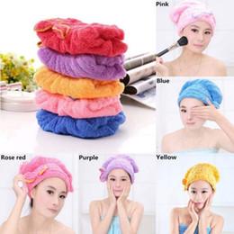 $enCountryForm.capitalKeyWord NZ - Women Wet Hair Drying Cap Skullies Microfiber Coralline Turban Wrap Quick Dry Bath Shower Beanies 1pcs