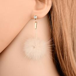 $enCountryForm.capitalKeyWord UK - 2019New Fashion Earrings Metal Real Mink Fur Ball Earring Fur Flower Earrings for Women Female Jewelry E2215