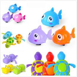 Discount swimming toy turtles - Single Sale Cute Cartoon Animal Tortoise Classic Baby Water Toy Infant Swim Turtle Wound-up Chain Clockwork Kids Beach B