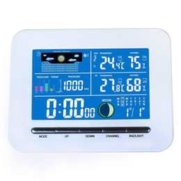 Station Wireless Controllers Australia - Freeshipping Digital Wireless Electronic Temperature Humidity Meter LCD Display Weather Station Indoor Outdoor Thermometer Humidity