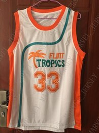 f25850e5a Cheap wholesale Jackie Moon Jersey 33 Flint Tropics Semi Pro Sewn Customize  any name number MEN WOMEN YOUTH basketball jersey