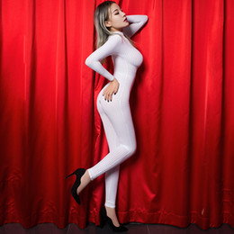 $enCountryForm.capitalKeyWord NZ - Bodysuit For Women Erotic Latex Sex Costumes Crotchless Sex Suit Intimacy Black Striped Sheer Bodystocking Stocking On Body SH190710