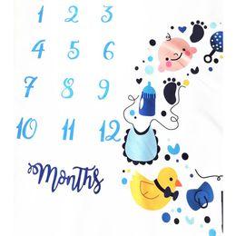 $enCountryForm.capitalKeyWord Australia - Photo Grops Props Photography Blanket Backdrop Cloth Soft Polyester Calender Cartoon Monthly Milestone Baby Square Cute Newborn