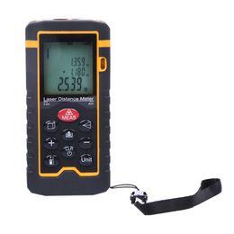 Distance Measure Lcd Australia - Freeshipping 9Key 40M 131ft 1575in LCD Digital Rangefinder Measure Diastimeter Laser Distance Meter Range Finder Measure Diastimeter Tool