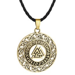 $enCountryForm.capitalKeyWord UK - Vintage Irish Knot Odin Symbol Charm Pendant Nordic Vikings Warrior Amulet Necklace