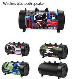 Phone Types Australia - 2018 New Portable Subwoofer Wireless Speaker With Phone Holder type square Bluetooth 4.1 Stereo FM Radio Support USB TF