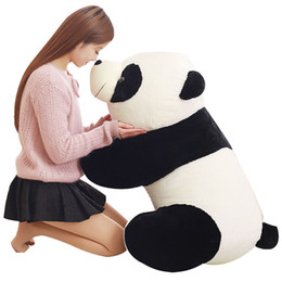 nice big dolls Canada - Dorimytrader Lovely Big Cuddly Fat Panda Plush Doll Soft Stuffed Animals Panda Pillow Toys Nice Gift for Kids 3 Sizes DY61138