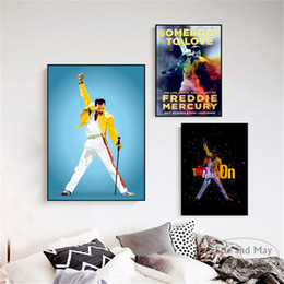 Paint art roll online shopping - Freddie Mercury Rock n Roll Art Wall Pictures Posters Prints Canvas Art Unframed Paintings Decoration Modern Home Decor Cuadros