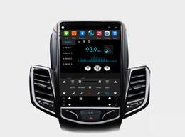Schwarz Tesla vertikalen Bildschirm Auto Multimedia GPS Radio Stereo Audio 4G Wifi für Ford Fiesta Fiesta ST 2009-2015 im Angebot