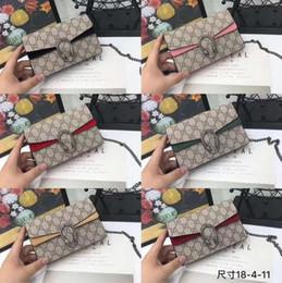 leopard print wallet genuine leather 2019 - High quality brand 2019 latest men's and women's wallet fashion shoulder bag Messenger bag handbag shoulder ba